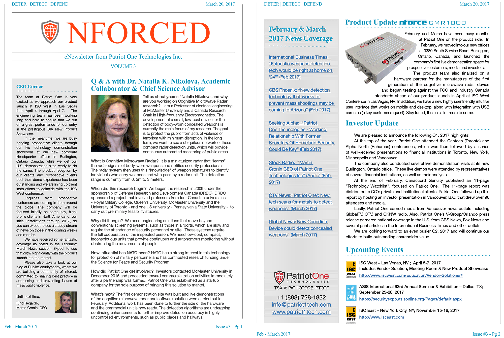 nforced-patriot-one-newsletter-volume-1