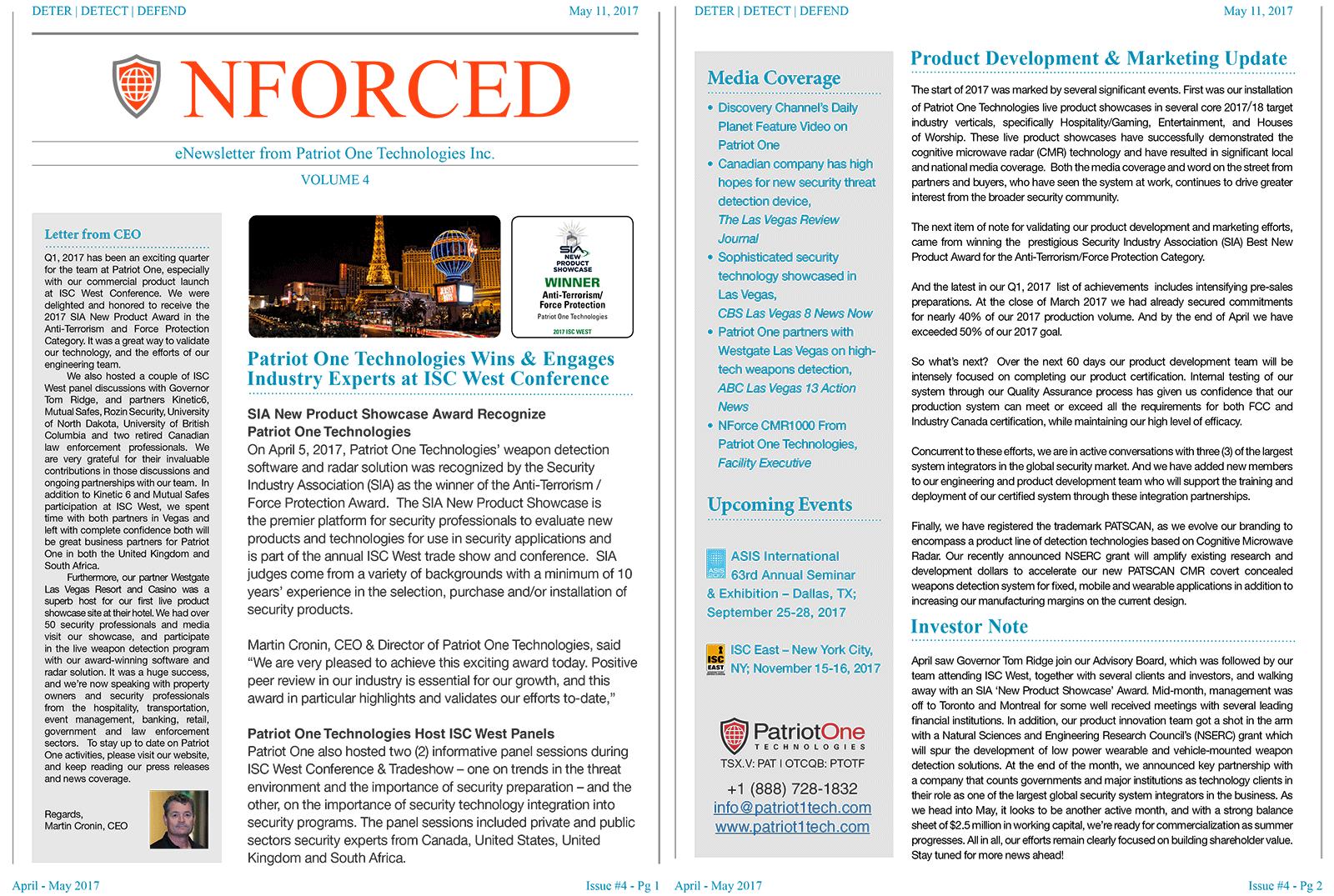 nforced-patriot-one-newsletter-volume-4